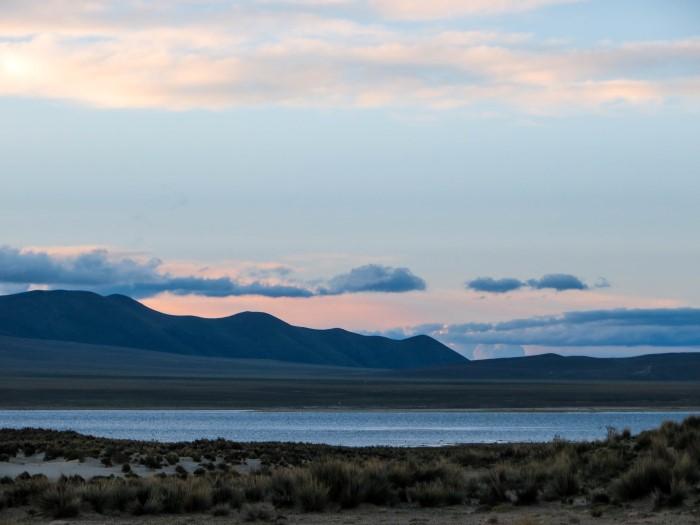 Sunset Laguna Grande Reserva Biologica de Sama Tarija Bolivia
