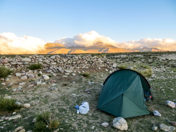wild camping in South America