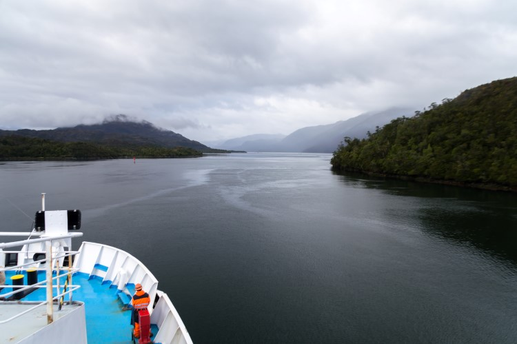 Views of the Chilean fjords from the Navimag Ferry between Puerto Montt and Puerto Natales.