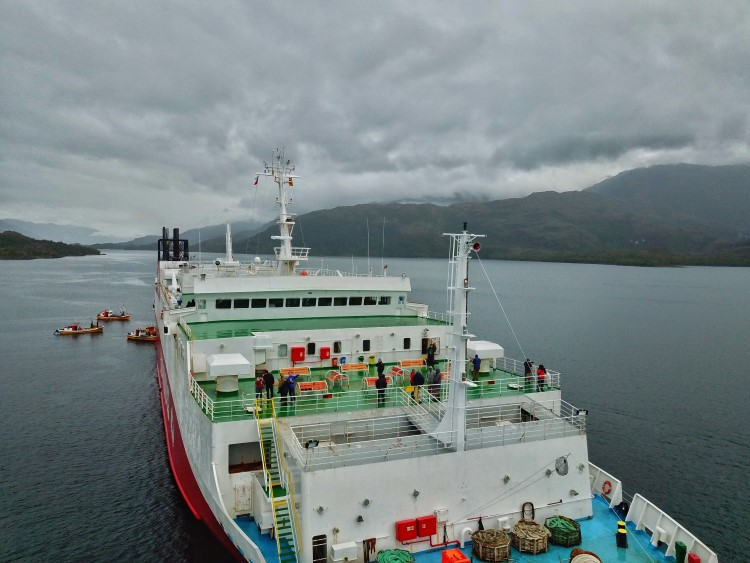 The Navimag Ferry in Patagonia.