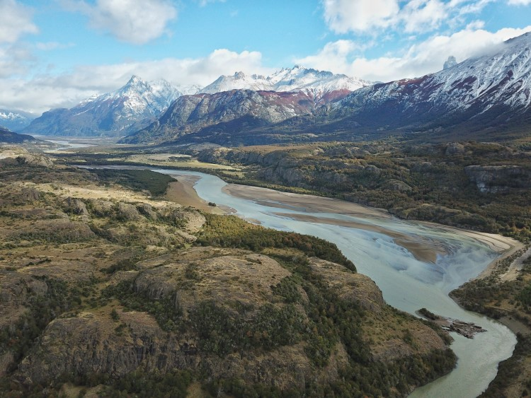Snowy mountains in the Cerro Castillo National Park, Patagonia.