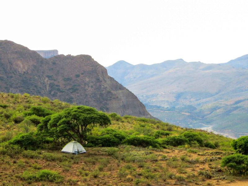 Bolivia Sucre tent above the Icla Canyon