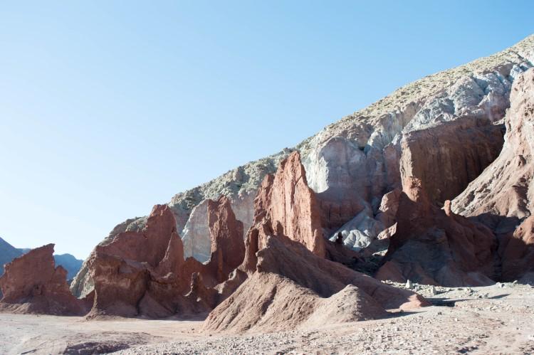 Rainbow Valley near San Pedro de Atacama and one of the things to do in Atacama Desert
