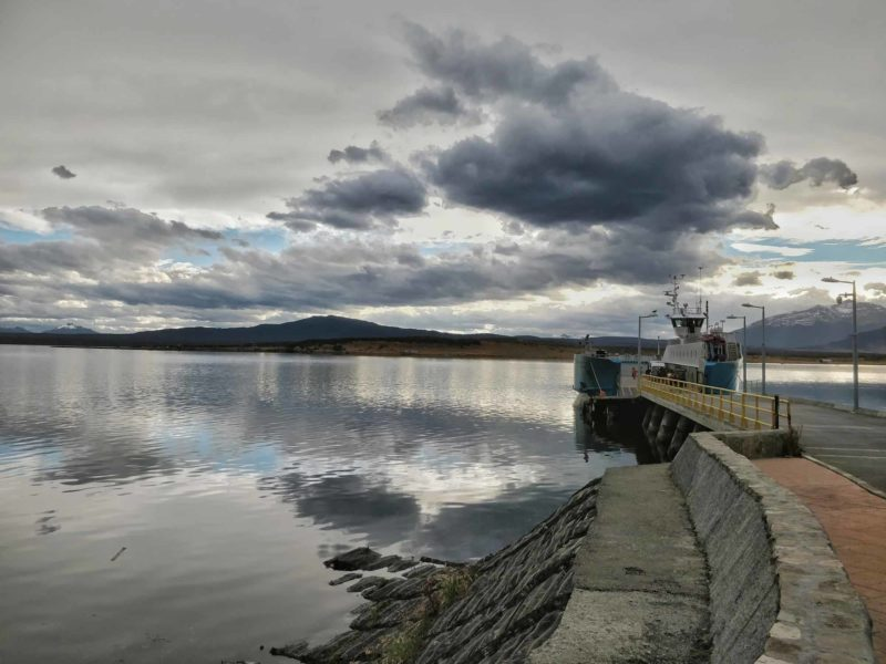 Views across Seno Ultima Esperanza off the shore of Puerto Natales