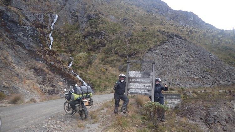 Motorbiking in Parque Nacional Los Nevados Colombia