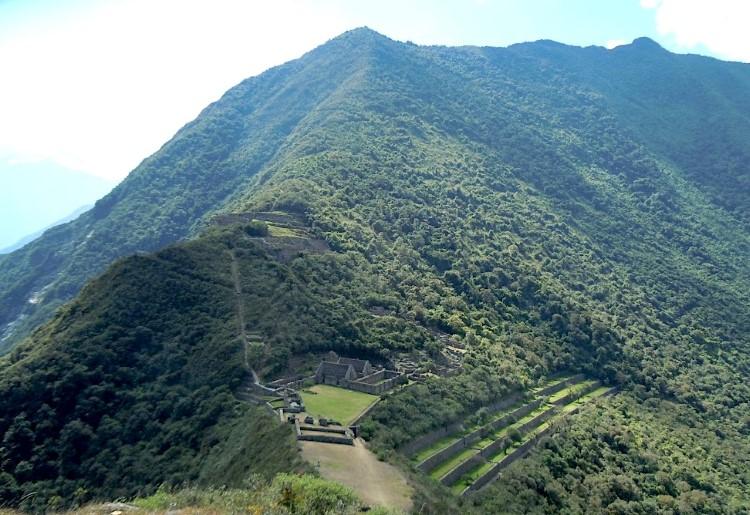 Choquechirao inca ruins and beautiful place in South America