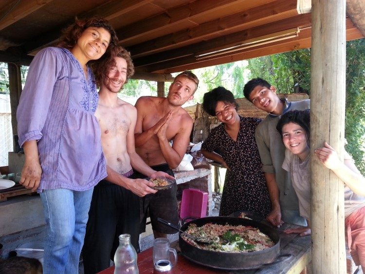 Cooking and making new friends in Argentina