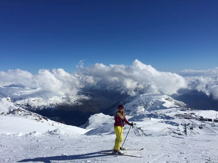 Skiing in El Colorado, part of the Valle Nevado set of ski resorts in Chile.
