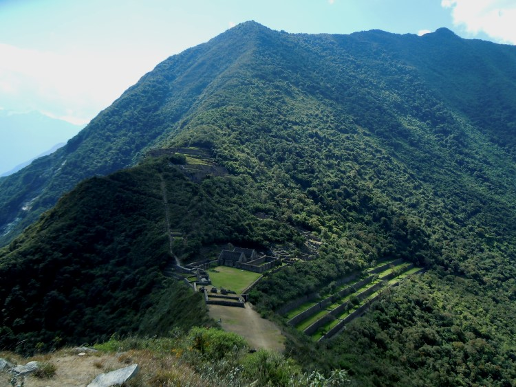 """A view across the archeological site of Choquequirao, often referred to as the """"other Machu Picchu"""" in Peru"""