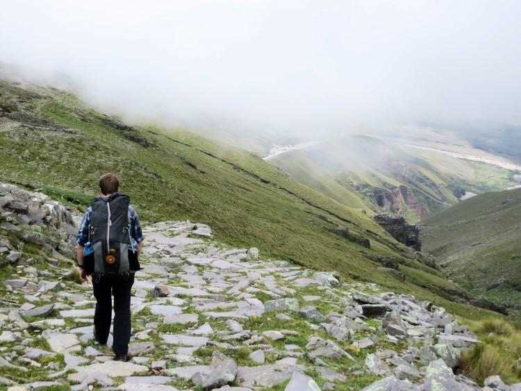 Hiking the Inca trail near Tarija, Bolivia.