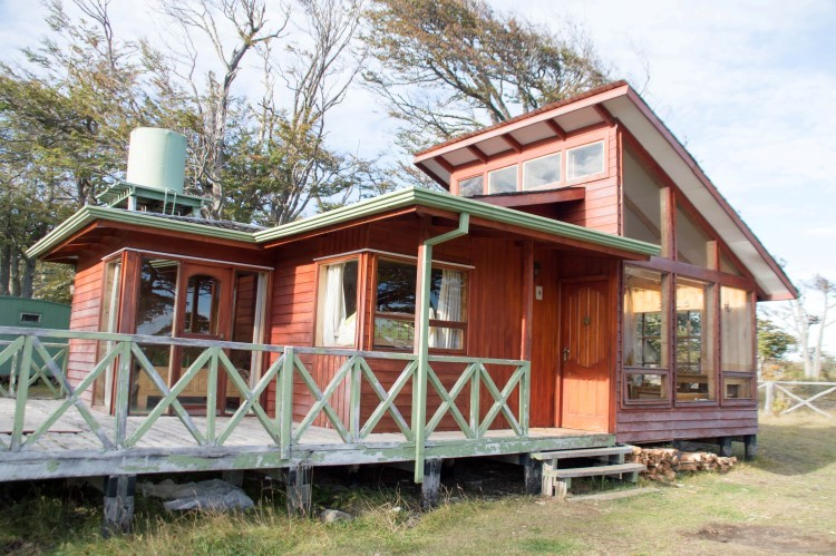 Cabins in Patagonia are great for backpacking on a budget.
