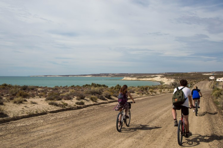 Cycling in Patagonia.