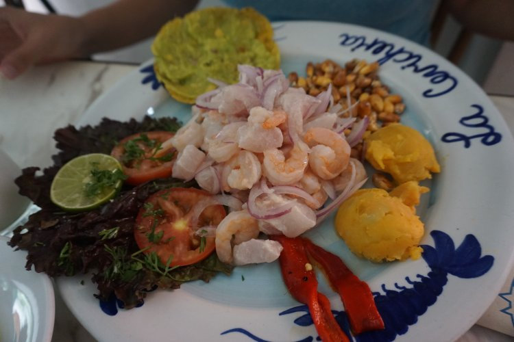 Ceviche in Colombia; one of the things to do in Cartagena.