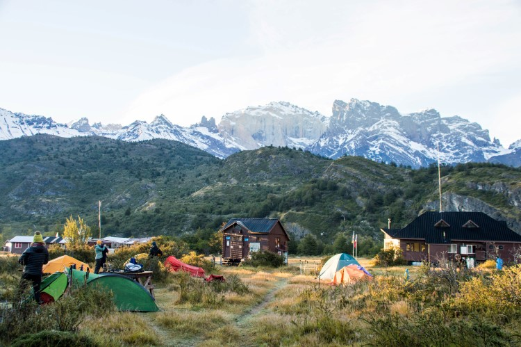 Camping Dickson, camping in Torres del Paine National Park, Patagonia