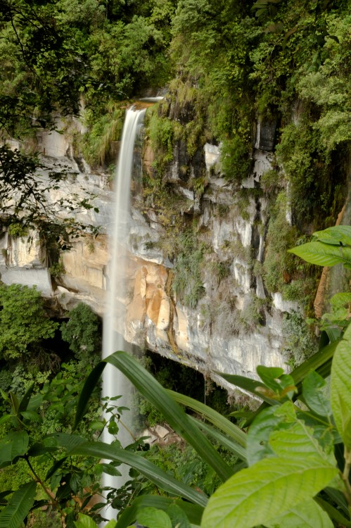 The second part of the Yumbilla Falls near Chachapoyas Peru