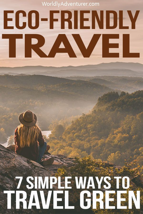 Reducing your environmental impact when you travel is easy with these seven eco-friendly travel tips to help you become a more sustainable and responsible traveller #sustainabletravel #responsibletravel #ecotravel #greentravel #plasticfree