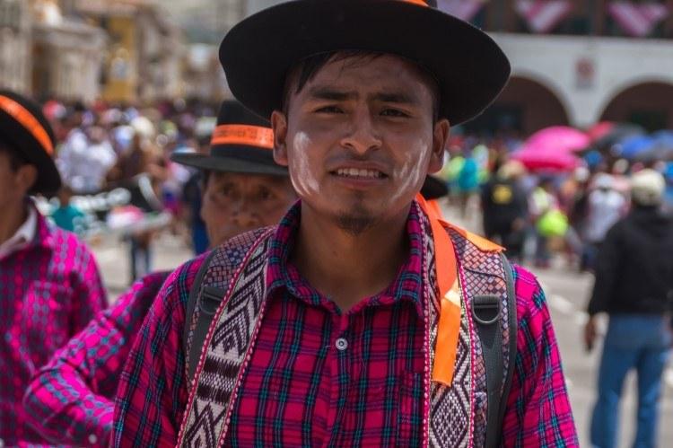 Dancers celebrating carnaval in Ayacucho Peru