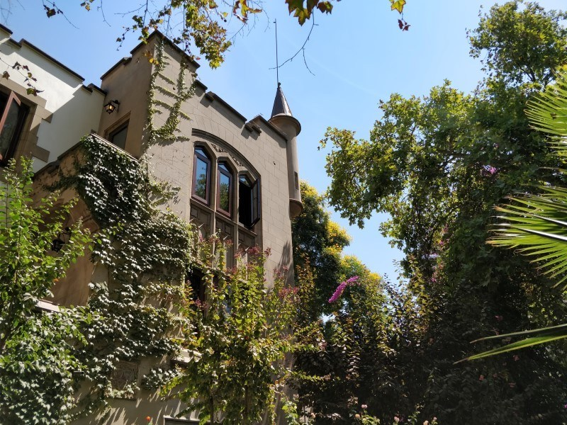 Hostal Rio Amazonas is an excellent budget option for where to stay in Santiago, Chile and is set in a gothic-style old builing