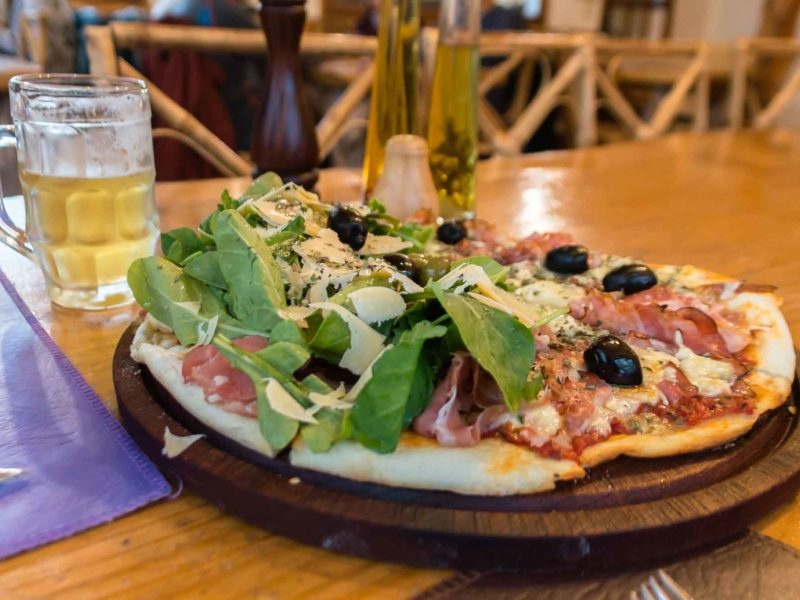 A pizza at La Ruca Mahuida in El Chalten, Argentine Patagonia and a must-visit place on any Patagonia itinerary