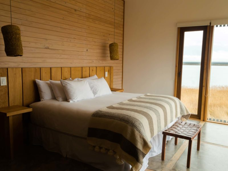 A bedroom at Simple Patagonia in Puerto Natales, a must-visit destination for any Patagonia itinerary