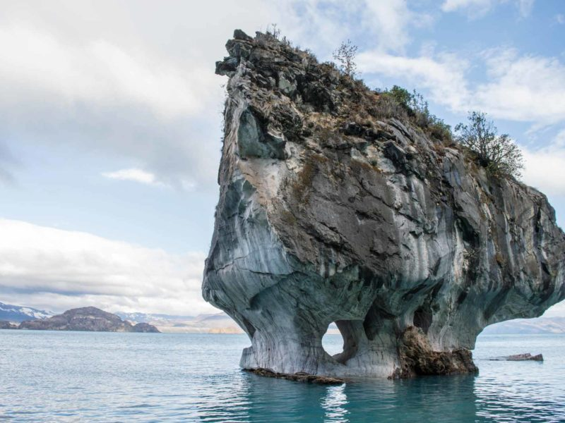 The marble chapel on Laguna General Carrera near Puerto Rio Tranquilo in Chilean Patagonia, a must-visit destination for any Patagonia itinerary