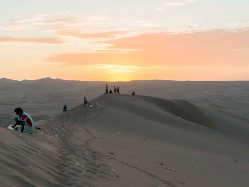 The sand dunes near Huacachina in central Peru, a popular place to visit in Peru