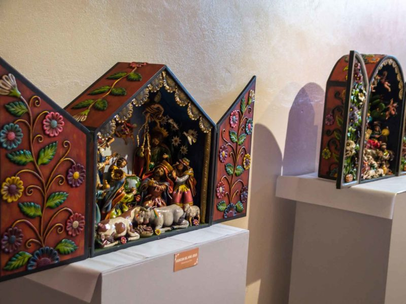 An intricate retablo in Ayacucho, one of the traditional crafts of the Central Sierra region of Peru