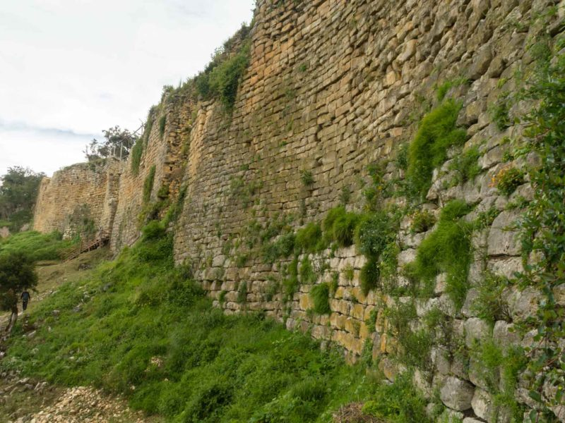The 18-metre-high stone walls of the Kuelap Fortress near Chachapoyas, an unmissable destination in Peru