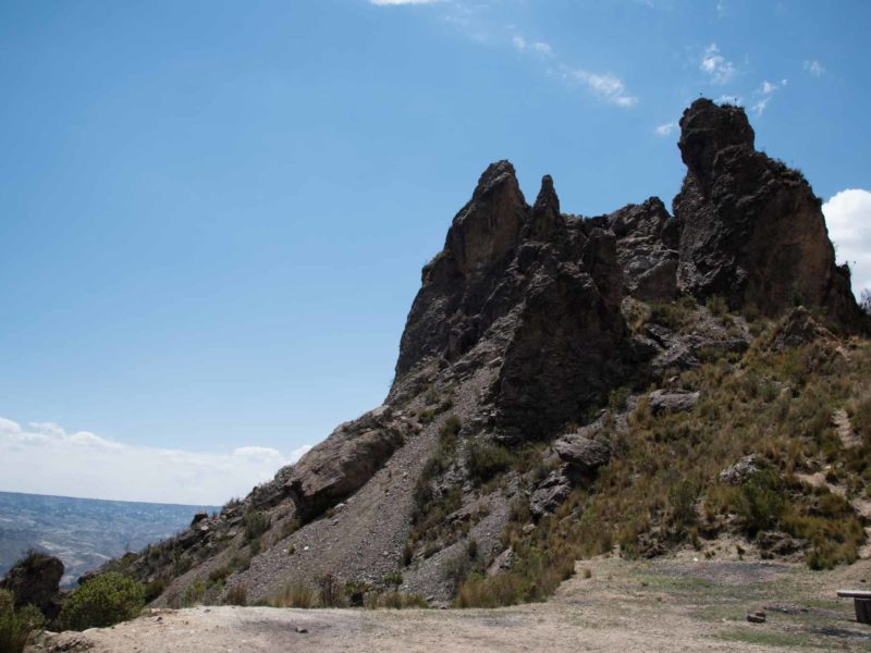 The Muela del Diablo, a popular hike just outside of La Paz and a good thing to do in the city