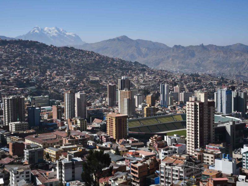 View of the Hernando Siles stadium from the Killi Killi Mirador