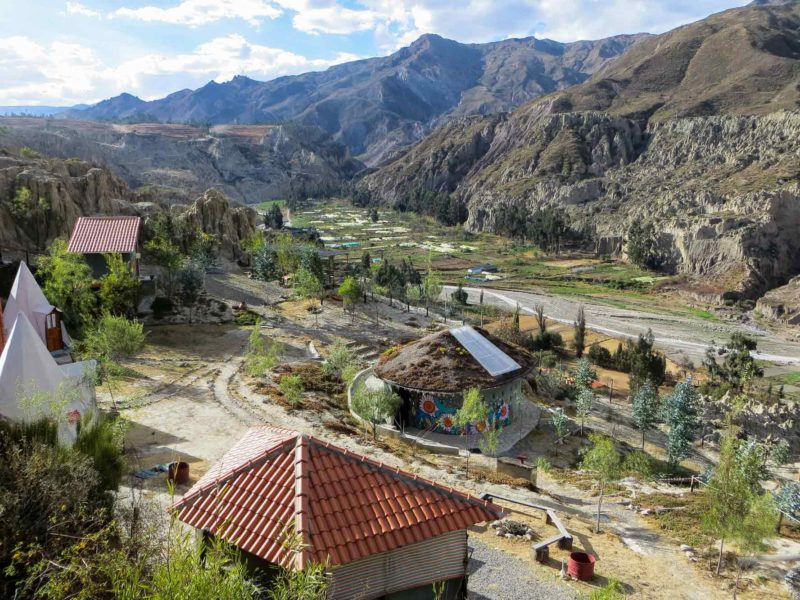 The view of Valle de las Flores from Colibri Camping, an unmissable place to visit just outside of La Paz, Bolivia