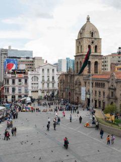 Plaza San Francisco, the tourist heart of La Paz and a unmissable tourist attraction in Bolivia