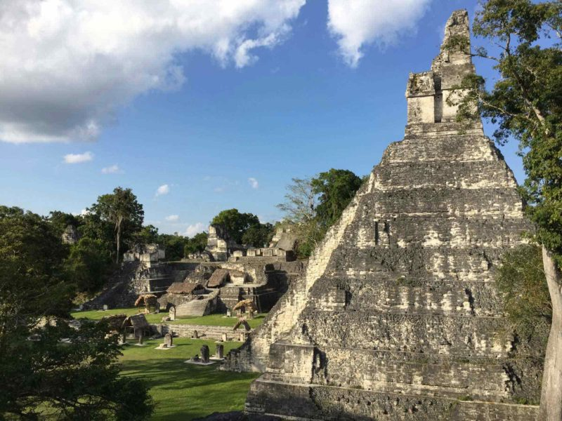 One of the pyramids of the Tikal archaeological site in the Peten region of Guatemala, one of the unmissable things to do in Guatemala