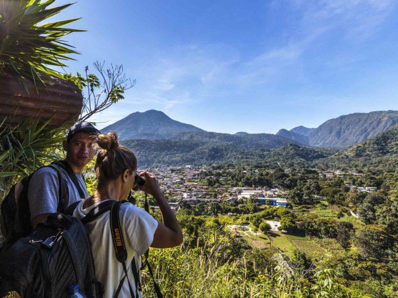 Views from the top of the Mirador La Cruz in San Juan La Laguna, a top destination to visit in Guatemala