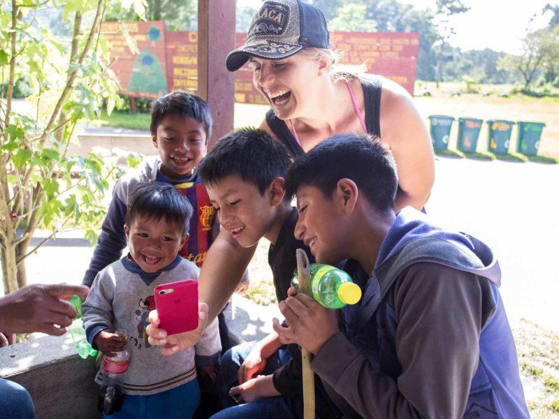 Local Guatemalan children in Antigua Guatemala