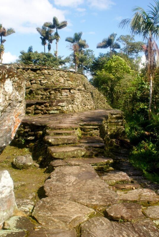 The weathered stone paths of Ciudad Perdita winds through Columbian ruins covered in moss. Possibly the best hike in Columbia or even South America.