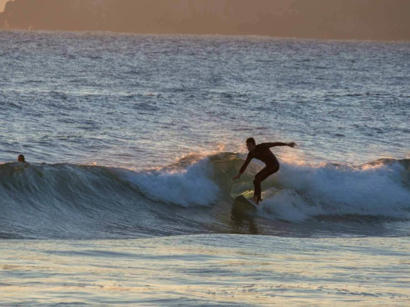 Surfing on the beaches of Concón