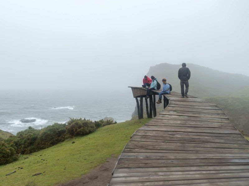 South America Backpacking Routes: the Dock of Souls appears to be a bridge to nowhere on the Coast of Chile