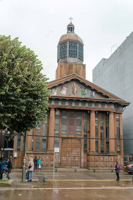 The church in Puerto Montt, Chile