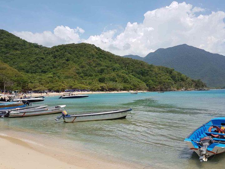 Beautiful Caribbean coastline of Tayrona National Park