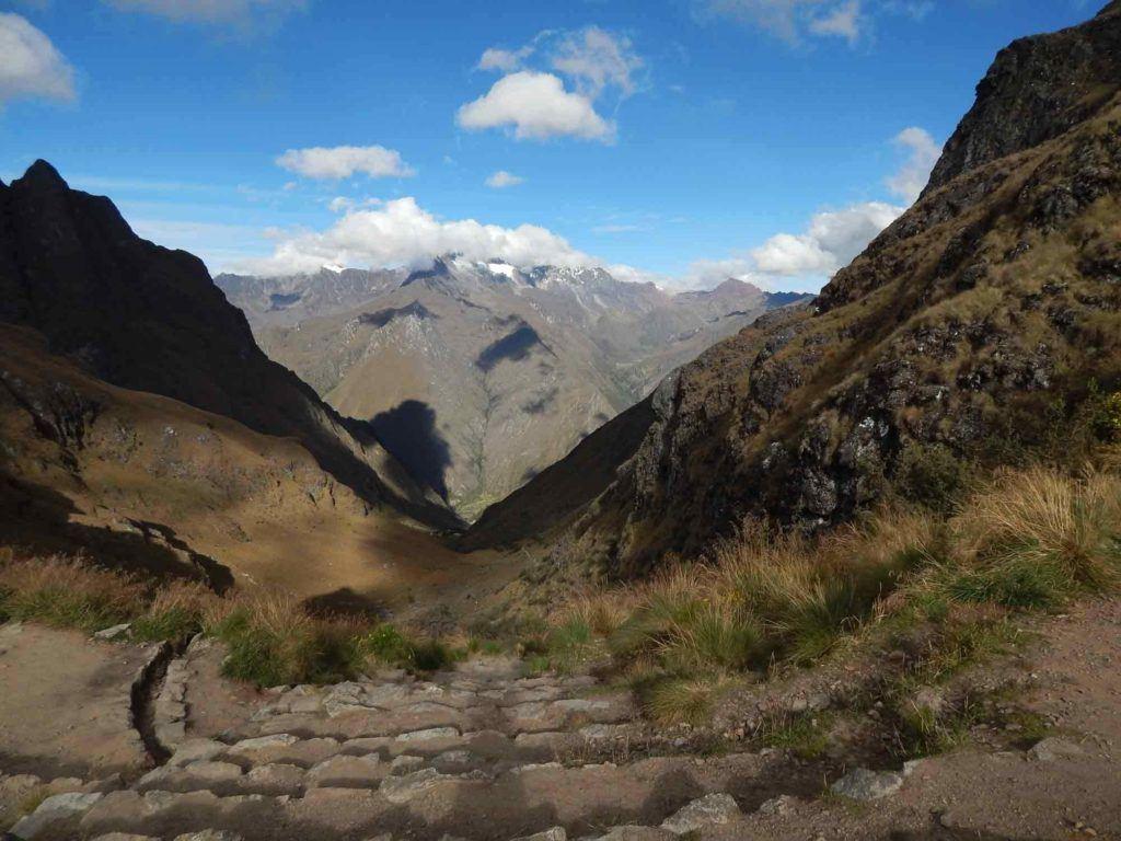 The view from hiking the Inca Trail from Dead Woman's Pass.
