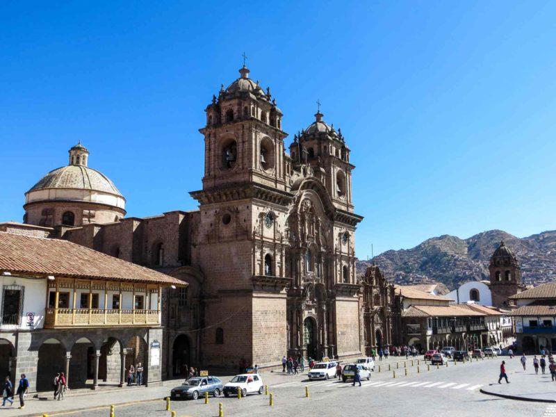 South America Plaza de las Armas in Cuzco, Peru