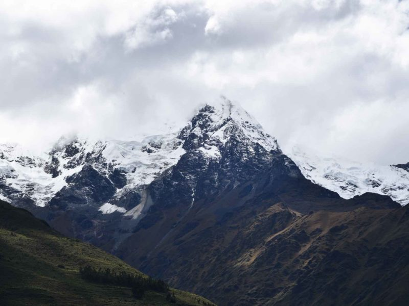 Mount Veronica as seen on the first day of hiking the Inca Trail in Peru