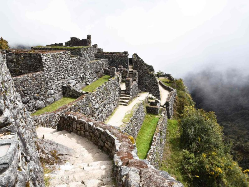 The Sayamarca ruins on day three of the Inca Trail