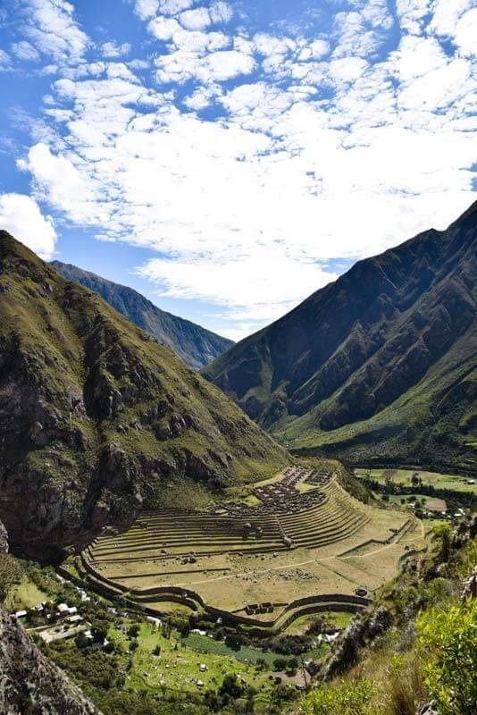 Llactapata is just one of the many ruins that can be seen along the Inca Trail.