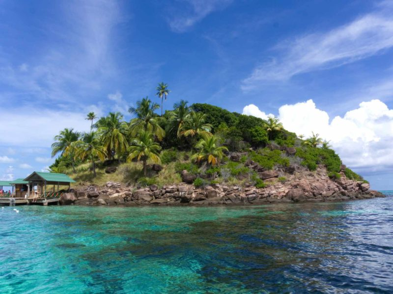 An island off the North coast of Colombia, in the Caribbean Sea.