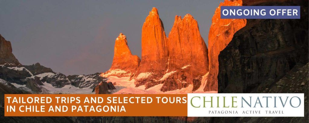 Torres del Paine National Park at dawn, an experience featured on a ChileNativo O Circuit or W trek in Patagonia