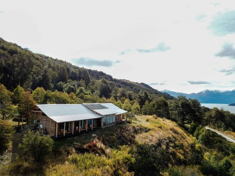 A cozy cabin can offer the perfect contrast to the rugged wilderness it overlooks