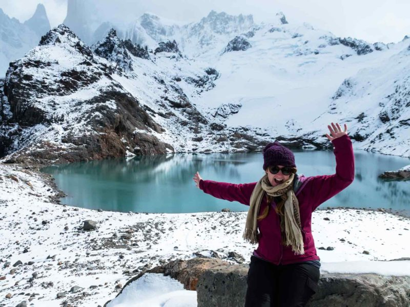 The Laguna de los Tres in one of the many sight you can visit if driving in Patagonia