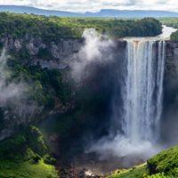 Kaieteur Falls in Guyana, South America and a hidden secret